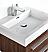 """Fresca Livello 24"""" Walnut Modern Bathroom Sink"""