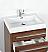 """Fresca Livello 24"""" Walnut Modern Bathroom Cabinet"""