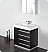 "Fresca Livello 30"" Black Modern Bathroom Vanity"