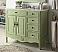 """Adelina 38"""" Distressed Bathroom Sink Vanity - Vintage Green"""