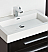 "Fresca Livello 30"" Black Modern Bathroom Sink"