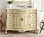 "Adelina 42"" White Marble Bathroom Vanity - Creamy Beige with Size Option"