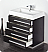 "Fresca Livello 30"" Black Modern Bathroom Cabinet"