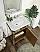 "Adelina 24"" Gold Asger Powder Room Bathroom Vanity"