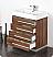 """Fresca Livello 30"""" Walnut Modern Bathroom Cabinet"""