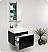 Fresca Nano Black Modern Bathroom Cabinet