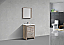"""Modern Lux 24"""" Nature Wood Modern Bathroom Vanity with White Quartz Counter-Top"""