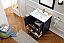 """Dora Soo Collection 30"""" Solid Wood Sink Vanity with Mirror-No Faucet Blue Finish"""