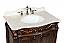 "Adelina 32"" Antique Bathroom Vanity Brown Finish top"