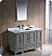 "Oxford 48"" Traditional Bathroom Vanity Gray Finish"