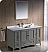 "Oxford 54"" Traditional Bathroom Vanity Gray Finish"