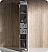 Oxford Grey Tall Bathroom Linen Cabinet