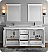 "Windsor 72"" Matte White Traditional Double Sink Bathroom Vanity with Mirrors"