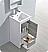 "16"" Modern Bathroom Vanity Ash Gray Finish"