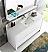 "60"" Modern Single Sink Bathroom Vanity with Mirror, White Finish"