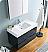 "Valencia 36"" Wall Hung Modern Bathroom Vanity with Medicine Cabinet, Dark Slate Gray Finish"