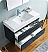 "Valencia 40"" Wall Hung Modern Bathroom Vanity with Medicine Cabinet, Dark Slate Gray Finish"