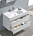 "Valencia 40"" Wall Hung Modern Bathroom Vanity with Medicine Cabinet, Glossy White Finish"