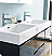 """Valencia 48"""" Wall Hung Double Sink Modern Bathroom Vanity with Medicine Cabinet, Color and Faucet Option"""