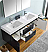 """Valencia 60"""" Wall Hung Double Sink Modern Bathroom Vanity with Medicine Cabinet, Faucet and Color Option"""