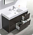 """Valencia 48"""" Free Standing Modern Bathroom Vanity with Medicine Cabinet, Faucets and Color Options"""
