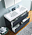 "Valencia 48"" Free Standing Double Sink Modern Bathroom Vanity with Medicine Cabinet, Faucets and Color Options"