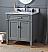 "Modern 30"" Tennant Brand Durand Bathroom Sink Vanity with Backsplash and Color Options"