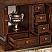 "48"" Double Sink Cabinet - Travertine Top, Undermount Ivory Ceramic Sinks (3-hole)"