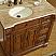 Accord Antique 38 inch Single Sink Bathroom Vanity Left Sink
