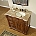 Accord Antique 38 inch Single Sink Bathroom Vanity Right Sink