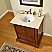 "32"" Single Sink Cabinet with Crema Marfil Top, Undermount White Ceramic Sink (3-hole)"