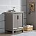 Elizabeth 24-Inch Single Sink Carrara White Marble Vanity In Cashmere Grey