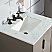 Elizabeth 24-Inch Single Sink Carrara White Marble Vanity In Cashmere Grey With F2-0009-03-BX Lavatory Faucet
