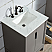 Elizabeth 24-Inch Single Sink Carrara White Marble Vanity In Cashmere Grey With F2-0012-03-TL Lavatory Faucet
