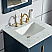 "Elizabeth 24"" Single Sink Carrara White Marble Vanity In Monarch Blue With F2-0012-06-TL Lavatory Faucet"