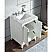 Elizabeth 24-Inch Single Sink Carrara White Marble Vanity In Pure White