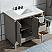 "Elizabeth 36"" Single Sink Carrara White Marble Vanity In Cashmere Grey"