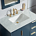 Elizabeth 36-Inch Single Sink Carrara White Marble Vanity In Monarch Blue With F2-0012-06-TL Lavatory Faucet
