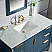 Elizabeth 48-Inch Single Sink Carrara White Marble Vanity In Monarch Blue With F2-0012-06-TL Lavatory Faucet