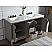 Elizabeth 60-Inch Double Sink Carrara White Marble Vanity In Cashmere Grey