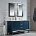 Elizabeth 60-Inch Double Sink Carrara White Marble Vanity In Monarch Blue