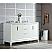 Elizabeth 60-Inch Double Sink Carrara White Marble Vanity In Pure White