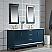 Elizabeth 72-Inch Double Sink Carrara White Marble Vanity In Monarch Blue
