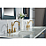 Elizabeth 72-Inch Double Sink Carrara White Marble Vanity In Monarch Blue With F2-0012-06-TL Lavatory Faucets