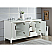 Elizabeth 72-Inch Double Sink Carrara White Marble Vanity In Pure White