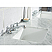 Elizabeth 72-Inch Double Sink Carrara White Marble Vanity In Pure White With F2-0009-01-BX Lavatory Faucets