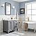 36 Inch Wide Cashmere Grey Single Sink Quartz Carrara Bathroom Vanity From The Queen Collection