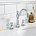 36 Inch Wide Cashmere Grey Single Sink Quartz Carrara Bathroom Vanity With Matching F2-0012-01-TL Faucet From The Queen Collection