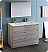 """Lazzaro 48"""" Free Standing Double Sink Modern Bathroom Vanity with Medicine Cabinet, Faucets and Color Options"""