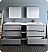 """Lazzaro 84"""" Free Standing Double Sink Modern Bathroom Vanity with Medicine Cabinet, Faucet and Color Options"""